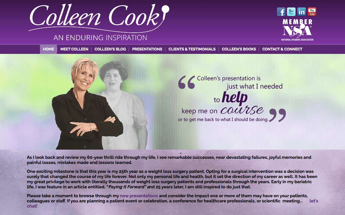 Colleen Cook – An Enduring Inspiration