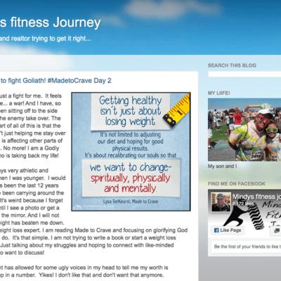 Mindys Fitness Journey