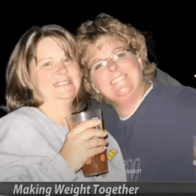 Two women lose weight together